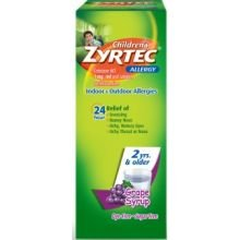 Childrens Zyrtec 24 Hour Allergy Relief Syrup - Grape - Cetirizine - 4 fl oz