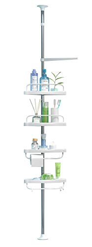 ADOVEL 4 Layer Corner Shower Caddy, Adjustable Shower Shelf, Constant Tension Stainless Steel Pole Organizer, Rustproof 3.3 to 9.8ft Mississippi