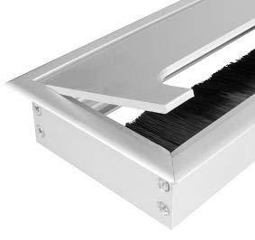 Aluminium Kabeldurchführung schwarz und silber 80mm viele Größen Kabeldurchlass Kabelauslass ALU silber Edelstahl Möbel Schreibtisch Büro Bürstendichtung Küchen-arbeitsplatte Arbeitsplatz 160mm