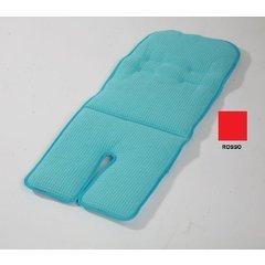 Colchón para cochecito reversible rojo
