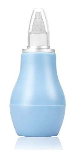 Aspirador nasal para bebé, limpiador de nariz, removedor de mocos nasales para bebés recién nacidos, aspirador de mucosidad limpiable y reutilizable y jeringa de bulbo nasal (Nasal aspirator1.