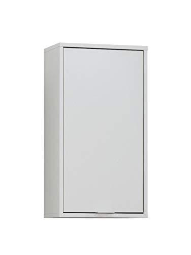FMD furniture Badezimmerschrank, Holz, Weiß, 37 x 68 x 17 cm Badezimmer Wandschrank, Holz, 37 x 68 x 17 cm