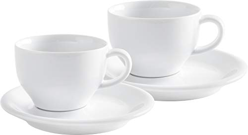 Cappuccino International Set 4-teilig Café Sommelier 2.0 in weiß, 230 ml