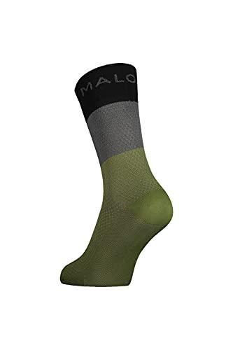 Maloja Waldmeisterm. Socken Colorblock-Grün, Laufsocken, Größe EU 39-42 - Farbe Moss