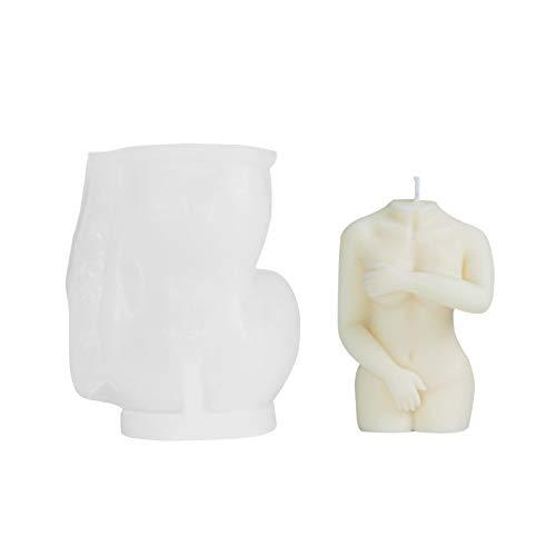 Augneveres Kerzenformen 3D Frau Sexy Nackte Silikonform Für Kerzenherstellung DIY Handgemachte KöRper Kerze Silikonform Seifenformen Für DIY Craft Making Comfy