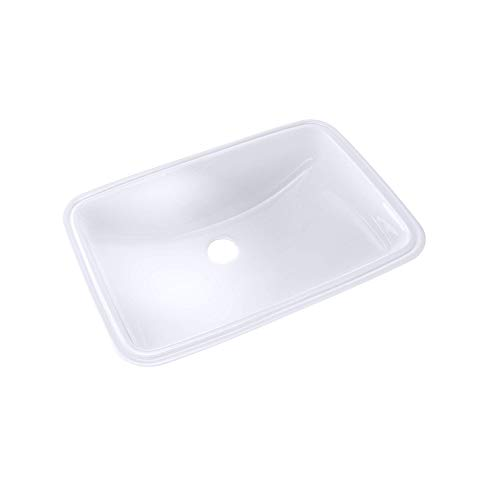 """TOTO Lt542G#01 19"""" X 12-3/8"""" Under Counter Lavatory With Sanagloss, Cotton White"""