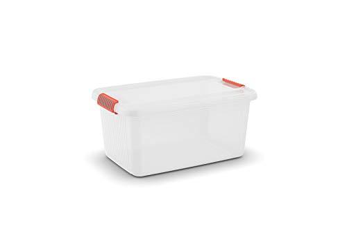 KIS Aufbewahrungsbox K Latch Box 43 Liter in transparent-orange, Plastik, 59x39x28 cm