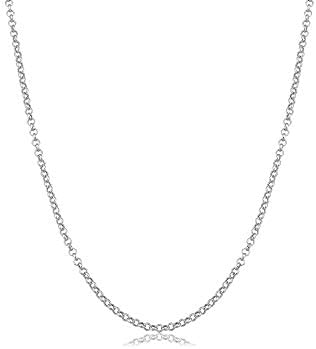 Verona Jewelers 925 Sterling Silver 1 5MM 2MM 2 5MM Circle Rolo Link Chain Necklace Rolo Link product image