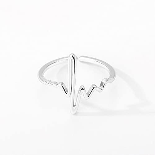 Anillos de onda de acero inoxidable para mujeres hombres anillos de geometría irregular joyería de la boda para la muchacha