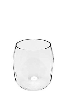 Zees ED1001 EverDrinkware Stemless Tritan Wine Glass, 18 oz - Set of 4, Clear