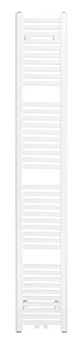 SixBros. R18 Badheizkörper (1750 x 300 mm, Watt 616) - Heizkörper mit Handtuchhalter für das Bad - pulverbeschichtet – weiß