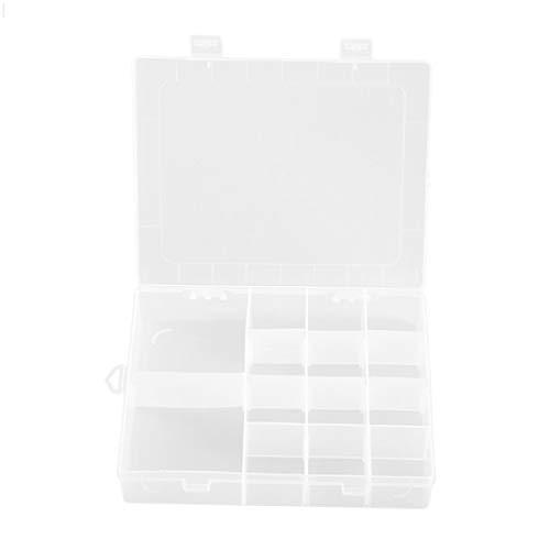 Pumprout Caja de plástico Transparente de 14 Rejillas, Caja de Almacenamiento extraíble, joyero cosmético, Piezas electrónicas, Herramientas de Almacenamiento de Tornillos