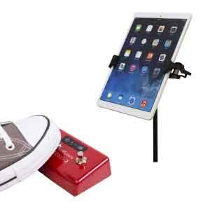 AirTurn Page Turner & App Control Bundle (Includes Wireless Bluetooth Pedal and Universal Tablet Holder for Microphone Stands)
