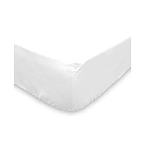Soleil d'ocre Sábana Bajera Lisa 90x190 cm de algodón Blanca