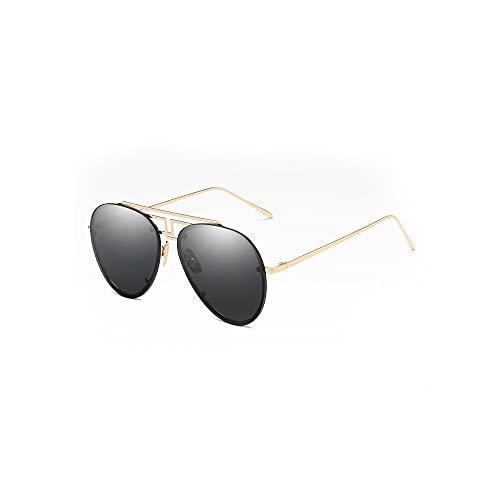 FEINENGSHUAItaiyj Gafas de Sol Hombre Las Gafas de Sol rectangulares de los Hombres, Las Gafas de Sol de Madera polarizadas están Equipadas con Lentes polarizadas de Espejo (Color : Black)