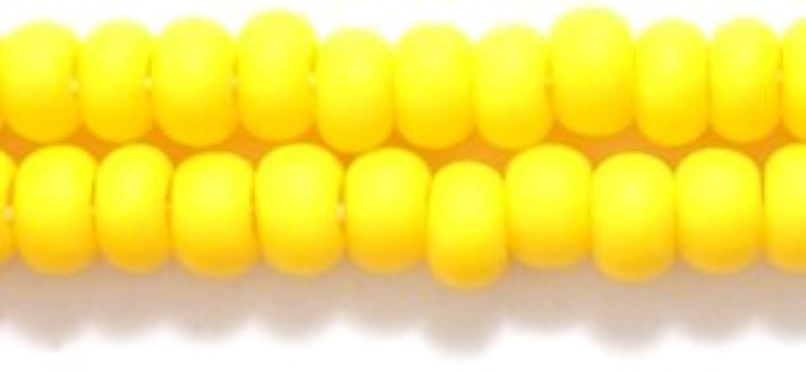 Preciosa Ornela Czech Seed Bead, Opaque Dark Yellow Matte, Size 6/0