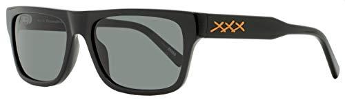 Sunglasses Ermenegildo Zegna EZ 0132 Xxx 2 01A Shiny Black, Vicuna Triple Logo /