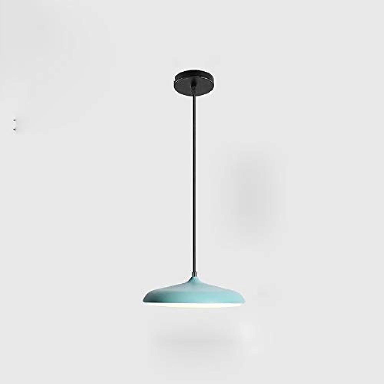 Nordic LED Kronleuchter Kreative Persnlichkeit Disc Celling Pendelleuchte Schmiedeeisen Esszimmer Schlafzimmer Wohnzimmer Lampe Macaron Durchmesser 25 cm Moderner minimalistischer verstellbarer Kronl