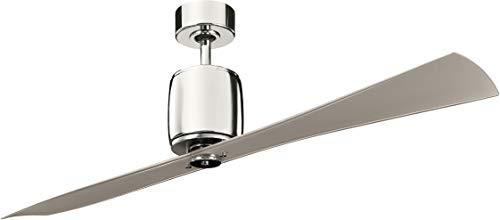 Kichler 300160PN, Ferron Polished Nickel 60' Ceiling Fan...