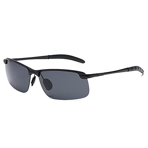 TTWLJJ Gafas de Sol Polarizadas, Gafas de Sol de Moda Hombre Mujer Protección UV400 Gafas para Conducción Aire Libre Deportes Golf Ciclismo Pesca Senderismo,Black b