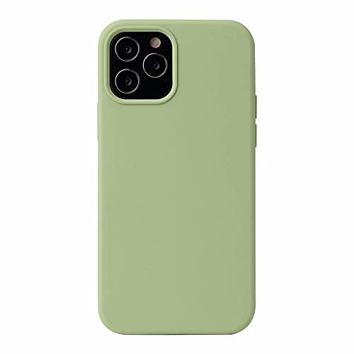 ESONG Funda para iPhone 13 Pro MAX, Protección de la Pantalla y la Cámara, Carcasa Silicona Líquida Funda Protectora Fina Parachoques Prueba de Golpes Suave Caso para iPhone 13 Pro MAX-Menta Verde