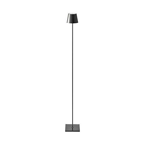 SIGOR Nuindie - Dimmbare LED Akku-Stehlampe Indoor & Outdoor, wiederaufladbar, 24h Leuchtdauer, schwarz
