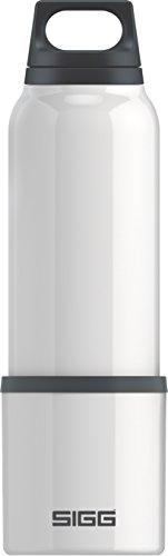SIGG Hot und Cold White Thermo Trinkflasche (0.75 L), schadstofffreie und isolierte Trinkflasche, auslaufsichere Thermo-Flasche aus Edelstahl