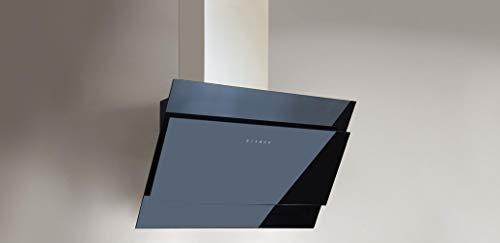 Dunstabzugshaube Easy-Star Glas schwarz 90 cm