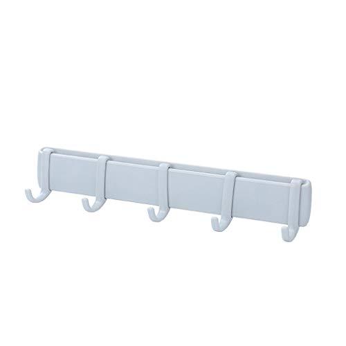 WARMWORD Barra Adhesivos de Cocina 5 Ganchos Barra Ajustable Organizador Estante de Utensilios de Cocina Impermeabilice Instalación Fácil No-Rastro Sin Perforación