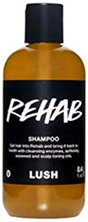 LUSH REHAB Shampoo 250ml - Get Damaged hair fixed with a fresh blend of fruit juices and herbs