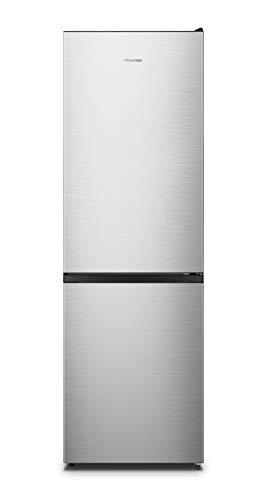 HISENSE RB390N4AC20 Kühlschrank-Kombination mit freier Installation A++,Total No Frost mit Multiflow Belüftung, Edelstahl Look, Höhe 185 cm, Fassungsvermögen Netto 302 L