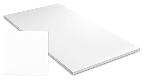 Exeta Tischplatte Schreibtisch Arbeitstisch Bürotisch Tisch in Weiß für Tischgestell