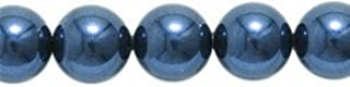 Swarovski 5810 Crystal Round Pearl Beads, 6mm, Night Blue, 50-Pack