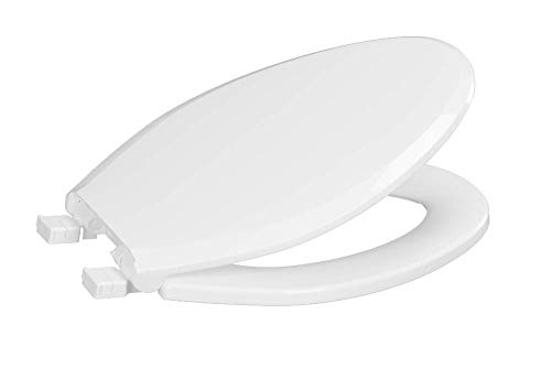 Centoco 3800SCLC-001 Deluxe Plastic Elongated Toilet Seat with Slow Close and Lift and Clean, White
