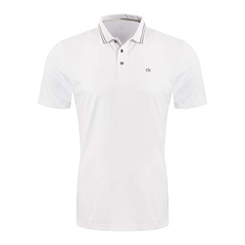 Calvin Klein Madison Herren-Poloshirt, Herren, Golfhemd, Madison Polo Shirt, Weiß, Medium