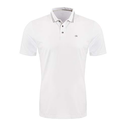 Calvin Klein Herren Madison Polo Golf-T-Shirt, weiß, Mittel