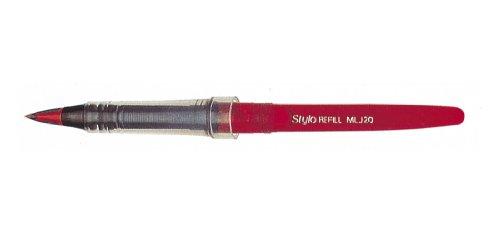 Pentel MLJ20 Stylo Tradio - Ricarica per penna stilografica, colore inchiostro: rosso