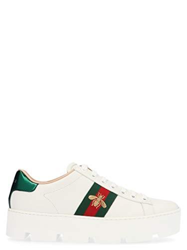 Gucci Luxury Fashion Donna 577573DOPE09064 Bianco Pelle Sneakers | Stagione Permanente