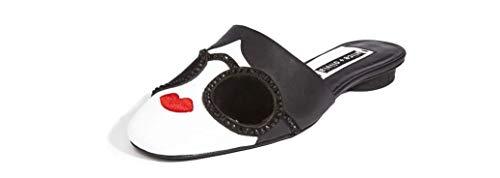 Alice + Olivia Maja StaceFace Mules Slides Flats Shoes (6.5 M US) Black