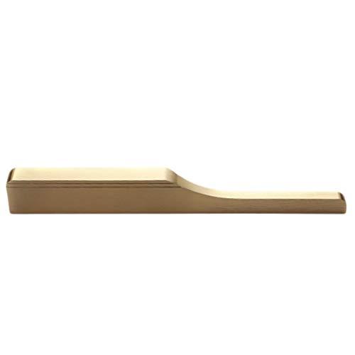 YI-LIGHT Tirador de puerta invisible, de aleación para armario de armario y cajones (color: dorado, tamaño: distancia entre agujeros: 96 mm)