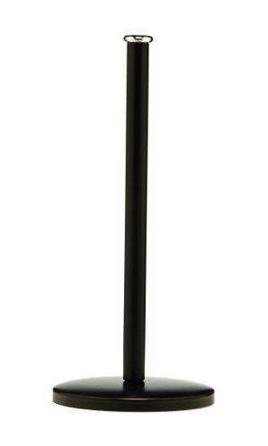 Premier Housewares Portarotolo da cucina, 14 x 31 cm, Colore: Nero opaco