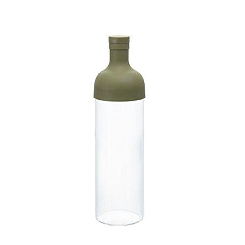 【ハリオ フィルターインボトル】 【ワインボトル型の水出し茶ボトル】 【オリーブグリーン】 【HARIO】