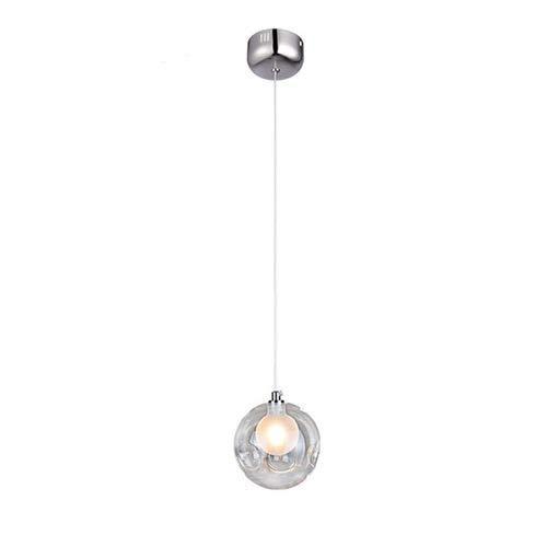 Lámpara de cristal colgante colorida lámpara, Diy claro G4 burbuja de jabón lámpara colgante Restaurante Salón comedor Decoración de techo interior Multi-Color transparente araña
