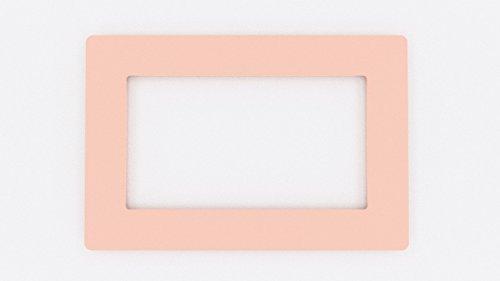 Focus Displays Einfassung für Doppel-Lichtschalter-Buchse, farbiges Acryl - große Farbauswahl. babyrosa