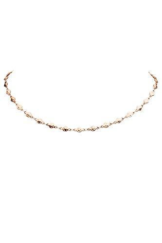 FAYE ® Star Circle Choker Halskette für Damen - In Silber oder Roségold - Kette für Damen - Schmuck