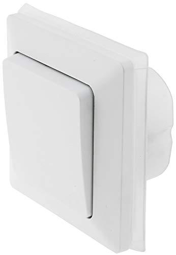 MILOS Schalter Unterputz für Aussen IP44 Wechselschalter mit Silikondichtung für Feuchträume und Aussenbereich 230V Matt Weiß