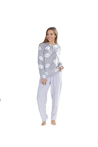 Adelántate al Invierno - Pijama de Coralina Bimba con Precioso Estampado de Nubes - Ideal para los Meses más fríos de BH Textil