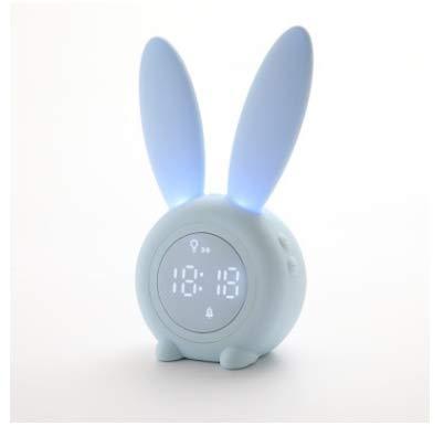 Aaedrag Reloj alarma digital niñas lindo conejo de despertador Reloj despertador niños creativos lámpara de cabecera Snooze función, controlada por tiempo luz de la noche, del día de los niños de rega