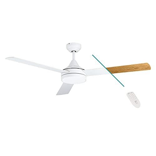 EGLO SESIMBRA Ventilador de techo, Color blanco mate