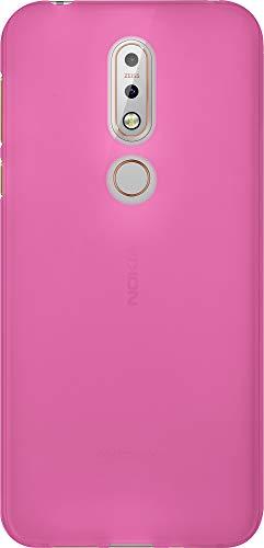 Baluum TPU Matt Pinke Hülle für Nokia 7.1 Schutzhülle Hülle Cover Handyhülle Backcover Silikonhülle